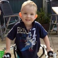 Jacob with his Kaye walker